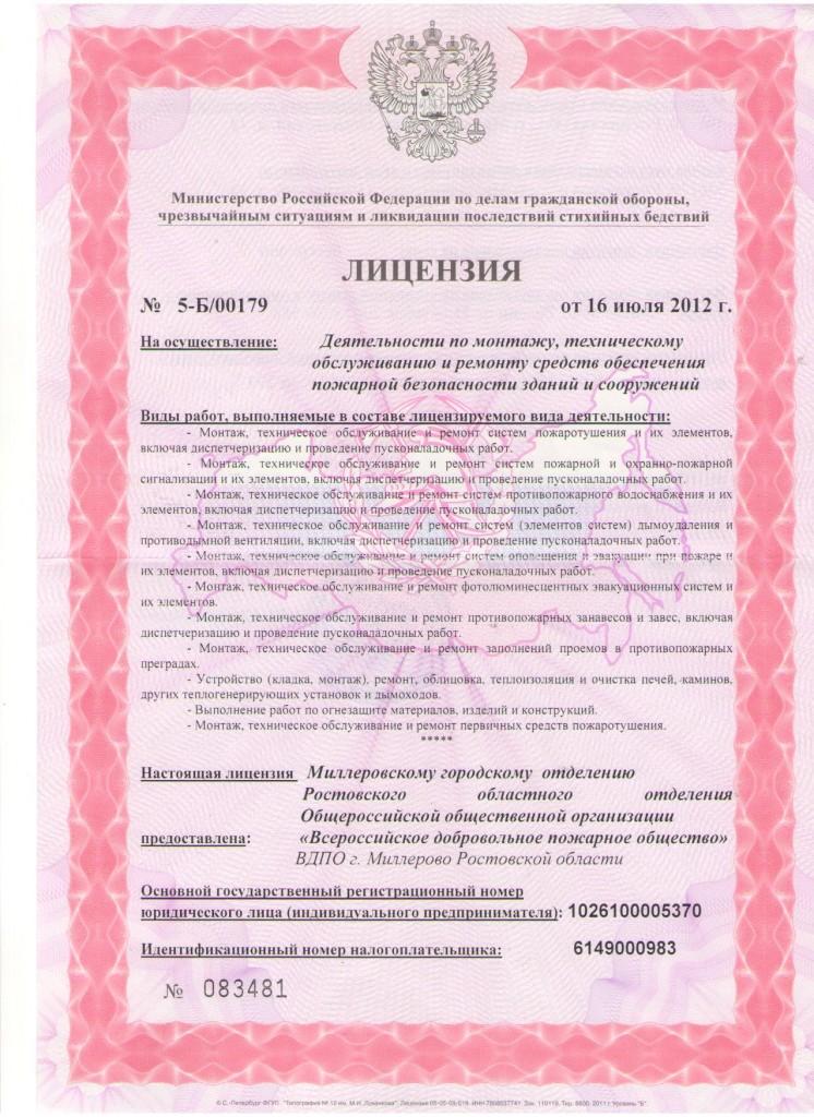 Лицензия на основную деятельностьЛист1